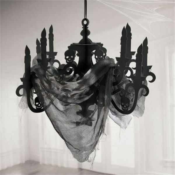 Halloween Candelabra with Gauze 57.5cm